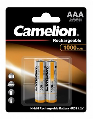 Camelion AAA, 1000 mAh, 2-pack, laddningsbara batterier
